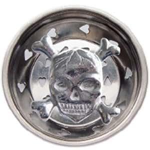 Skull Bathroom Sink : Skull W/ Crossbones Kitchen Sink Strainer Drain Decor - Sink And Drain ...