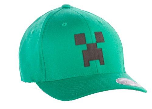 Minecraft Creeper Flexfit Hat Kelly Green S/M