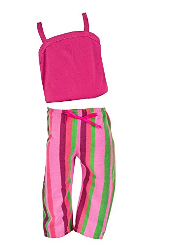 Fibre Craft Springfield Collection: Pajama Outfit with Pink Top and Striped Pants - 1