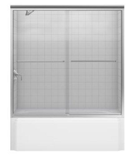 Cheap kohler r702200 l mx fluence frameless bypass for Discount frameless shower doors