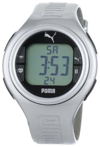 Cheap PUMA Men's PU910541009 Pulse Metallic Silver Heart Rate Monitor Watch (PU910541009)