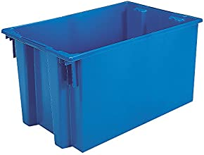 AKRO-MILS Stack and Nest Tote Box - 30x20x15quot - Blue