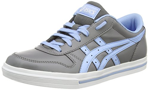 ASICS - Aaron Gs, Sneakers Basse da unisex - adulto, grigio (light grey/blue bell 1155), 39
