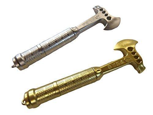novelty-plastic-axe-hobbit-dwarf-pen-in-gold-silver-chosen-randomly-posted-by-fat-catz-copy-catz