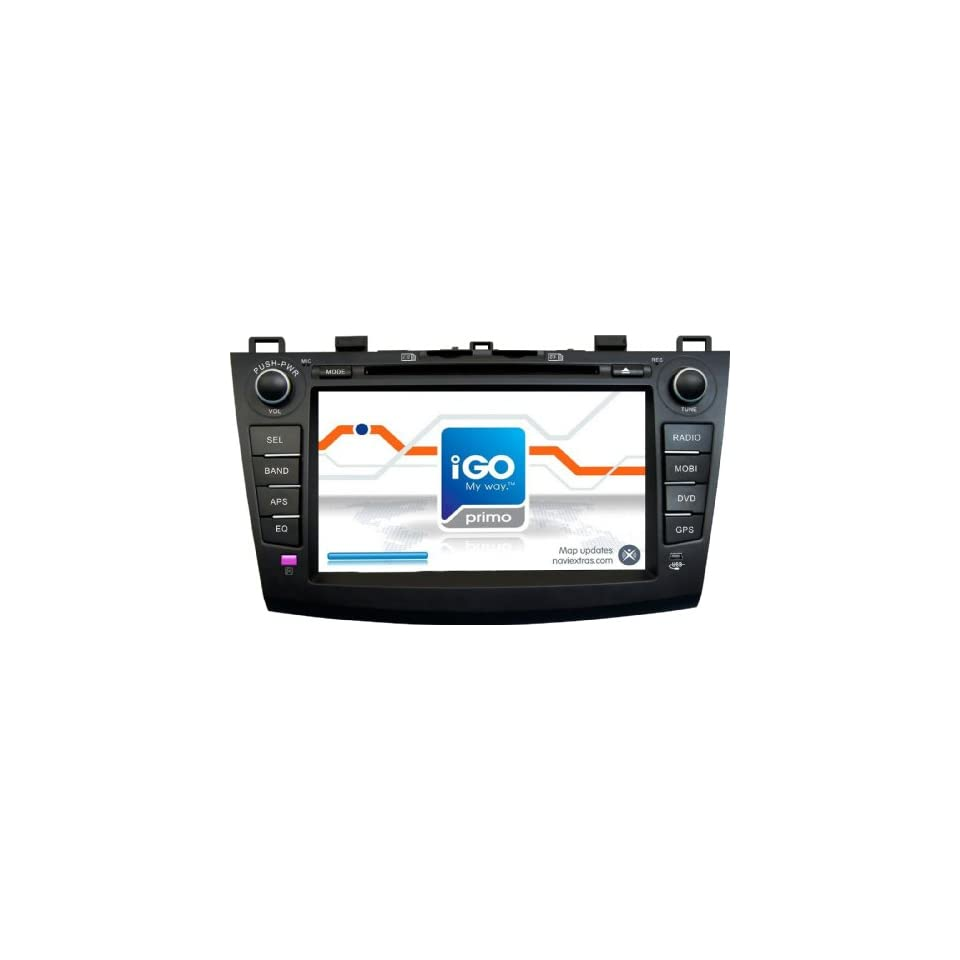 Fuxon for Mazda 3 2010 In Dash Double Din car DVD Player touchscreen 8 Inch Touchscreen with GPS(maps free) Bluetooth Digital TV iPod supporter Radio from goodbuddy