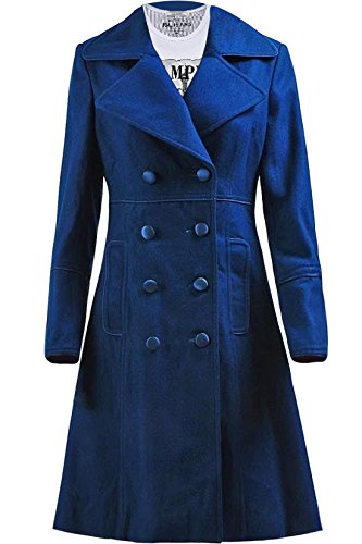 Trust Costume Doctor Amy Teal Wool Long Blue Coat Costume