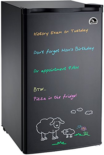 Igloo FR326M-D-BLACK Erase Board Refrigerator with Neon Markers, 3.2 cu. ft., Black (Mini Fridge Microwave Combo compare prices)