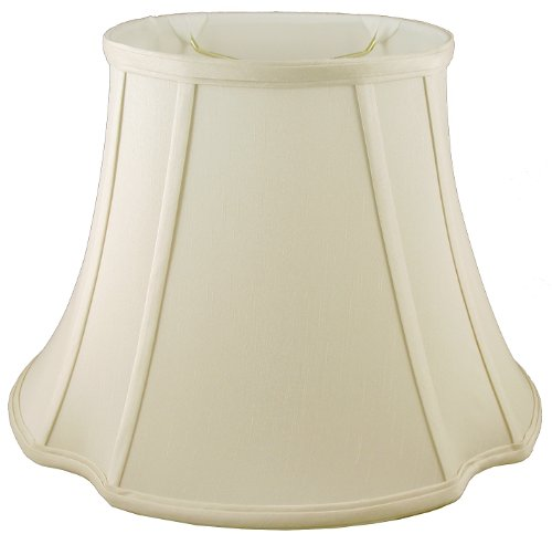 American Pride Lampshade Co. 05-78091511 Oval Soft Tailored Lampshade, Shantung, Eggshell