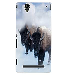 ColourCraft Yak Design Back Case Cover for SONY XPERIA T2 ULTRA