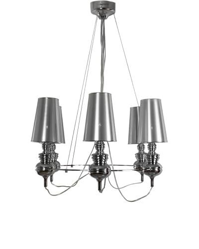 Control Brand Tiffany Suspension Lamp, Silver
