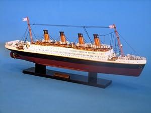 """RMS Titanic 20"""" - RMS Titanic - Model Ship Wood Replica - Not a Model Kit"""