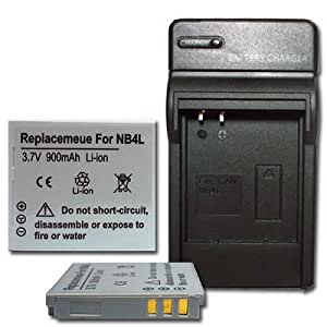 NEW Charger + 2 Battery for Canon Powershot TX1 SD750 SD1000 NB-4L NB4L + car plug