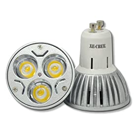 LED Gu10 9w Warm White Rotundity Cree Gu10 LED Light 3*3w 9w Lamp Bulb 85v-265v
