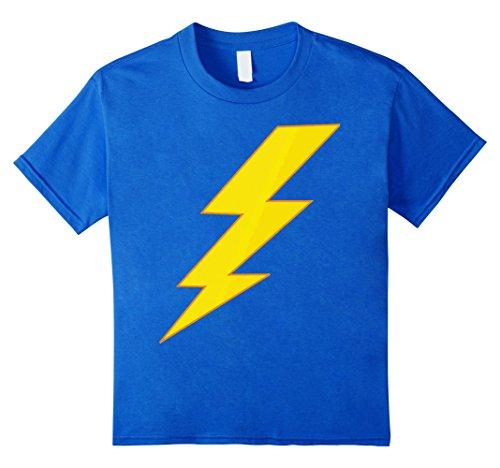Kids Lightning Bolt last minute Halloween costume shirt 10 Royal Blue (Last Minute Halloween Costume)