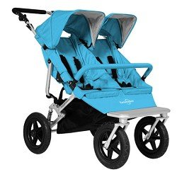 Easy Walker Duo Walker Double Stroller - Aqua Color
