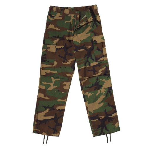 Ultra Force Woodland Zipper P/C BDU Pants, Medium
