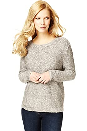 Metallic Effect Chunky Knitted Jumper
