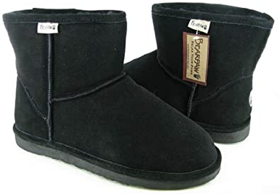 Bearpaw Men's Suede Ankle Boot - Style 418 Cooper (7, Black)