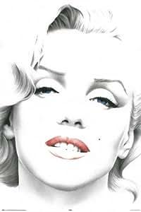 amazoncom marilyn monroe poster sketch blue eyes rare
