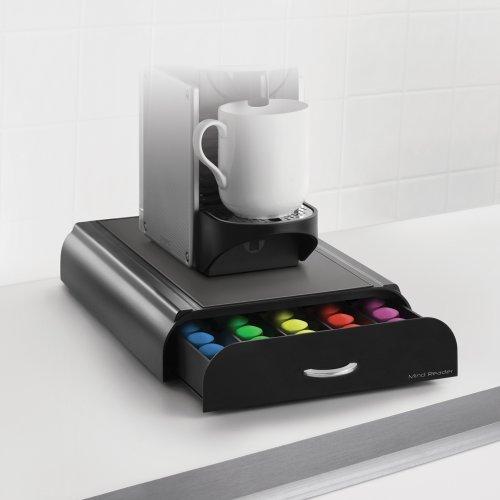 mind reader coffee pod packs storage drawer holder. Black Bedroom Furniture Sets. Home Design Ideas
