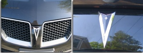 Arrowhead Overlay Decal | Front and Rear - 2008-2009 Pontiac G8 - (Color: Reflective Black)