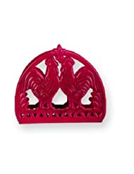 Old Dutch 2-Tone Rooster Napkin Holder, 6 by 2 by 5-Inch, Red by Old Dutch