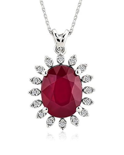 Divas Diamond Conjunto de cadena y colgante 2,56 gr 14K White Gold