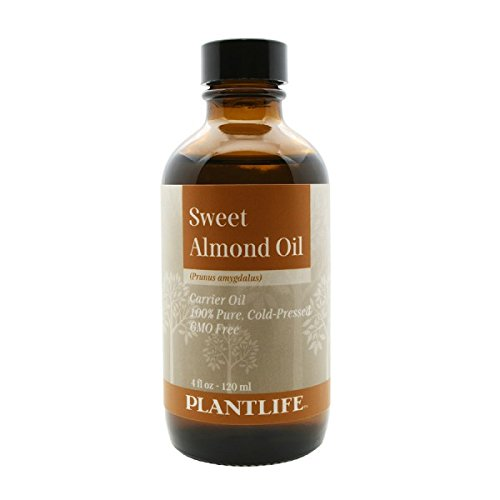 Sweet Almond Carrier Oil 4 oz - 100% Pure Cold Pressed Base Oil for Aromatherapy
