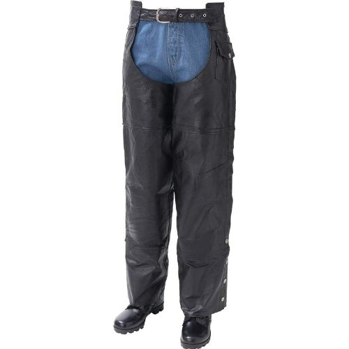 Leather Motorcycle Chaps- Xs