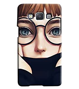 Blue Throat Cartoon Boy Hard Plastic Printed Back Cover/Case For Samsung Galaxy E5
