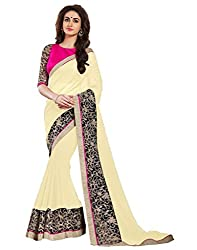 Offo Deals Partywear Traditional Beige Women Saree ss-1804c