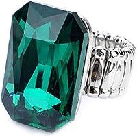 Bold N Elegant Green Stone Studded Magnus Ring
