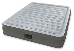 INTEX(インテックス) エアーベッド クィーンコンフォート ワイドダブルサイズ 電動式 グレー 67769