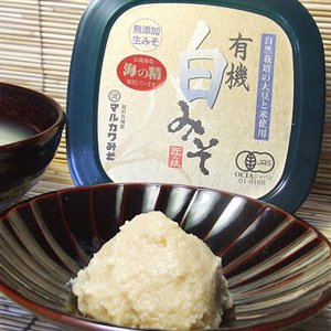 【マルカワみそ】無添加生味噌・自然栽培 白味噌(400g)