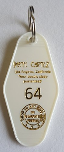American Horror Story Hotel Cortez Room # 64 White and Gold-Tone Inspired Key Tag (Bate Hotel compare prices)