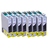 8x T1291 Black (Apple) Multipack High Capacity Epson Compatible Ink Cartridges. With chip & will show ink levels.