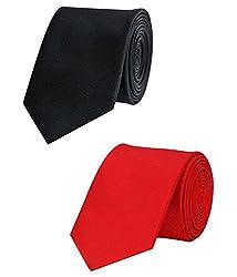 Greyon Black And Red Micro Ties Combo (GNA015)