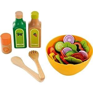 Hape cuisine set de salade jouet en bois enfant 3 ans for Set cuisine enfant
