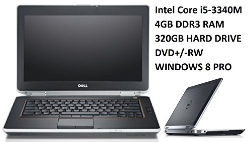Dell Latitude E6430 14.1-Inch Business Laptop PC, Intel Core i5-3340M 2.7GHz Processor, 4GB DDR3 RAM, 320GB Hard Drive, DVD+/-RW, Windows 8 Professional (Certified Refurbished) (Windows 8 I5 Laptop compare prices)