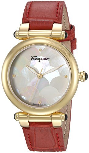 Salvatore-Ferragamo-Womens-IDILLIO-Quartz-Stainless-Steel-and-Leather-Casual-Watch-ColorRed-Model-FCH030016
