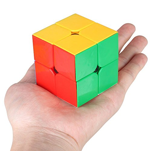 D-FantiX Qiyi 2x2 Black Mamba Speed Cube Puzzle Magic Cube 2x2x2 Stickerless