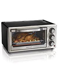Hamilton Beach 31512 Convection 6-Slice Toaster Oven, Black and Stainless Steel