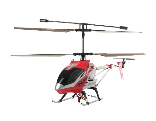SYMA S033G 3-Channel 3D RC Helicopter with Built-in Gyroscope (Red)