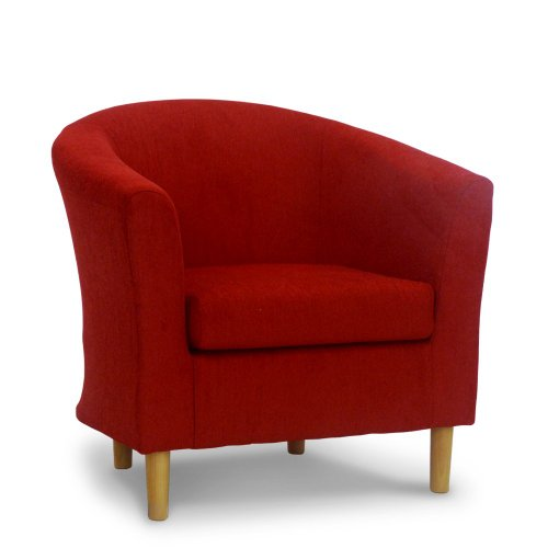 Fabric Tub Chair - Bucket Seat - Classic Tub Chairs Design - Riva Blush