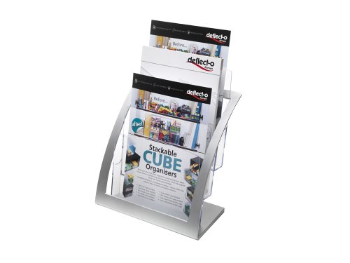 Deflecto 3-Tier Contemporary Literature Holder, Magazine Size (693745)