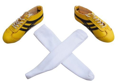 """NuoYa001 NEW 1:6 ZY TOYS Wushu KungFu Sneaker Shoes-Yellow F 12"""" Action Figure Soldier Toy by NuoYa"""