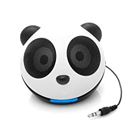 GOgroove Panda Pal High-Powered Portable Mini Speaker System for Smartphones , Tablets , MP3 , Laptop Computers and More!