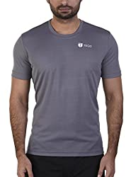 TEGO Men Sweat Charged Polyester Crew Tshirt Grey S 8090603680123