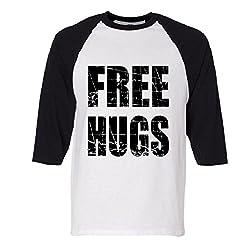 Free Hugs Raglan Baseball T-Shirt