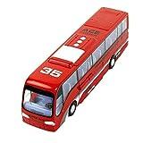 Happy Cherry - Coche Autobús de Juguete Deformación Modelo de Vehículo de Juguete Transgomable en Robot para Niños Regalo - Rojo